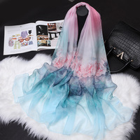 High Quality 100% Silk Scarf women Silk Scarves Spring and Autumn Winter Shawl girls real silk shawl Joker CJ110XF5