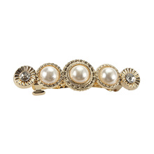 New Pearl Rhinestones Hair Clip For Women Girls Elegant Hair Barrette Hairpin Metal Hairgrip for Women Party Hair Ornaments ubuhle fashion women full pearl hair clip girls hair barrette hairpin hair elegant design sweet hair jewelry accessories 2019