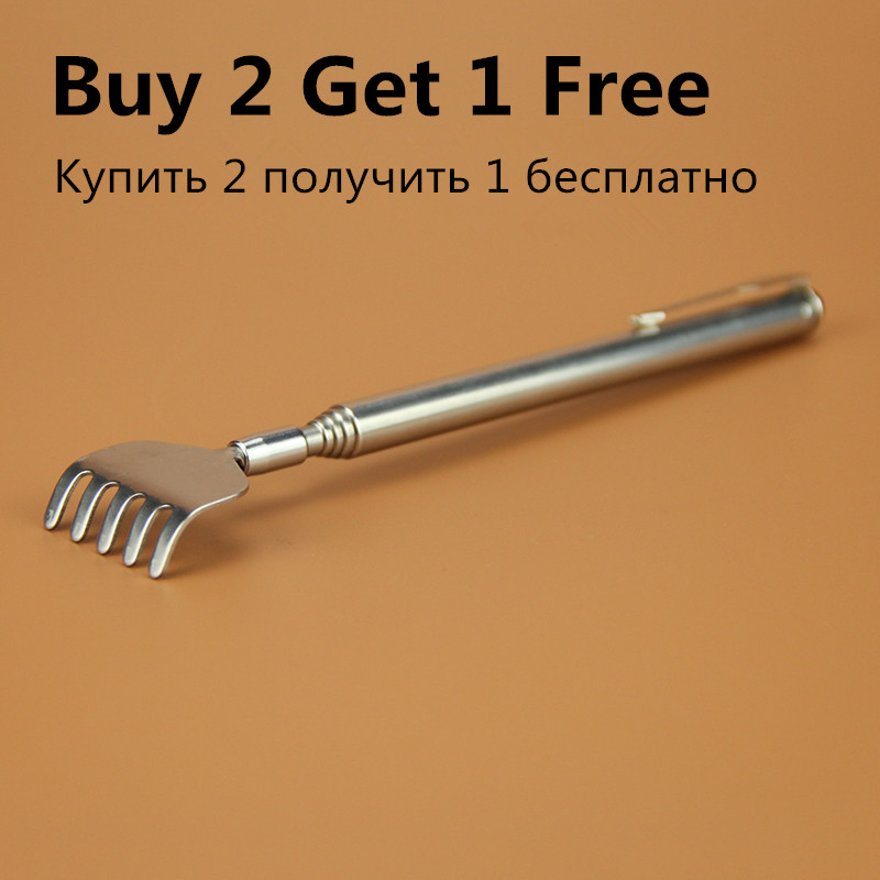 Practical Handy Stainless Pen Clip Back Scratcher Telescopic Scratching Massage Kit Bear claw Itch Backscratcher Hackle Massager 2017 new practical handy stainless pen clip back scratcher telescopic pocket scratching massage kit bear claw back scratcher