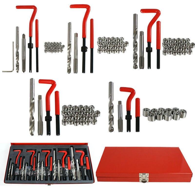 131Pcs Auto Engine Block Restoring Damaged Thread Repair Tool Kit M5 M6 M8 M10 M12 SK1008