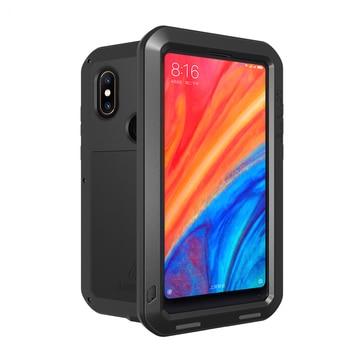 Alu mi num armadura de Metal para Xiaomi mi 8 funda resistente a prueba de golpes funda de cuerpo completo Xiaomi mi 8 mi 8 con cubiertas de vidrio Gorrila