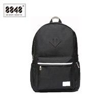 8848 Brand Black Backpacks Unisex 500 D Waterproof Oxford Soft Back Type Backpack For Travel School