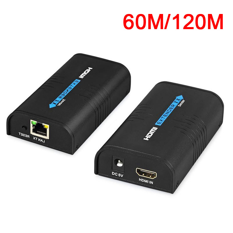 HDMI 1080P Network Extender 60m/120m CAT5 5e CAT6 Unlimited Repeater RJ45 Ethernet Transmitter Receiver QJY99