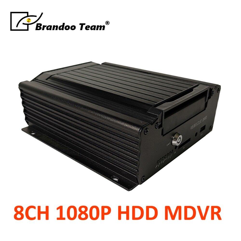 H.265 8CH 4g 1080 p FHD HDD MDVR 1080 p 8 canal mobile DVR FHD voiture DVR, soutien HDMI/VGA sortie-Brandoo