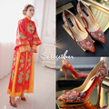 Chinese wedding shoes, ethnic style, high heels,