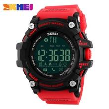 Skmei hombres de smart watch calorías podómetro moda cronógrafo relojes deportivos cronógrafo 50 m impermeable relojes digitales 1227