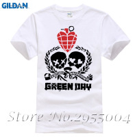 Summer Style Short Sleeve Green Day T Shirt Men Rock Punk T Shirt New Printed O