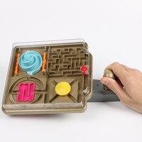 3D Drückersteuerung Maze Ball Kunststoff Ball Labyrinth Marmor Puzzle Spiel Zu Verbessern Balance fähigkeit IQ Pädagogisches Geschenk