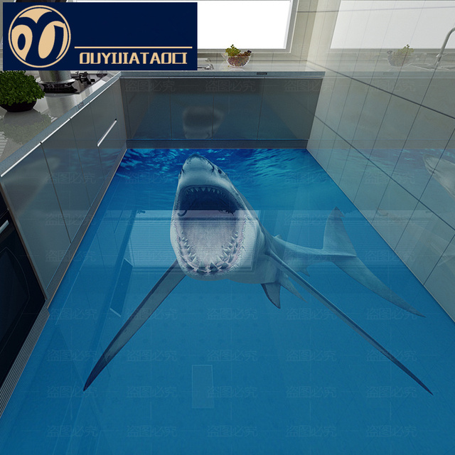 Best Quality 3d Floor Tiles Bathroom Shark Ceramic Tile 3D Kitchen Non Slip  Wear