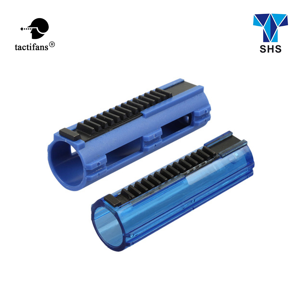 Tactifans SHS Full Steel 14 Teeth Piston Polymer Blue Or Transparent Body For Airsoft AEG Gearbox Ver 2/3