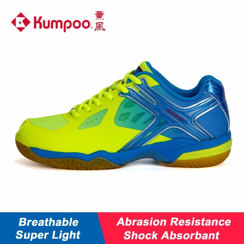 Kumpoo Badminton Shoes Cushioning Antiskid Breathable Balance Unisex for Men and Women Lightweight Sneakers KH-169 L792OLB professional kumpoo unisex shoes badminton light cushioning comfortable sports sneakers for men and women breathable kh 205 l799