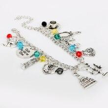 New Beauty And Beast Charm Bracelet Moana Bracelet Roses Mirror Castle Clock Lion Harpoon Accessories jewelry Women Jewelry -25