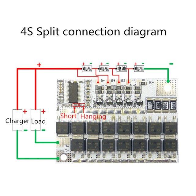 3S/4S/5S BMS 12V 16.8V 21V 100A Li-ion LMO Ternary Lithium Battery Protection Circuit Board Li-POLYMER Balance Charging Module 5