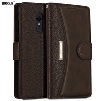 IDOOLS Case For Xiaomi Redmi 5 Plus Pro Cover Dirt Resistant Redmi5 Luxury PU Leather Wallet