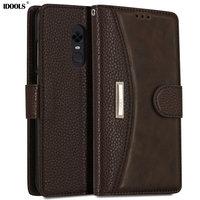 IDOOLS Case For Xiaomi Redmi 5 Plus Pro Cover Dirt Resistant Redmi5 Luxury PU Leather Wallet