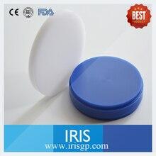 [IRIS 98*20mm] 6 unids Mejor Precio Sistema Wieland CAD/CAM Dental Azul y Blanco Bloque de Cera/Disco para Dentales laboratorios Envío Gratis