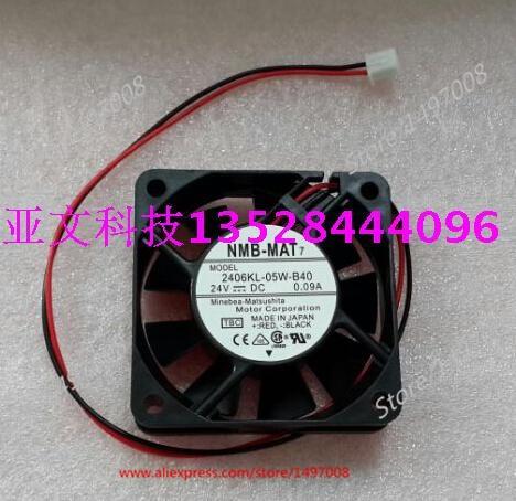 NMB-MAT 2406KL-05W-B40, подлежит уточнению DC 24 В 0.09A, 60x60x15 мм Сервер площади вентилятора ...