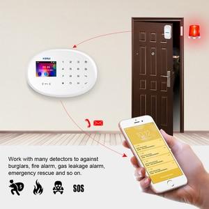 Image 2 - KERUI WIFI GSM W20 RFID Karte Smart Home Security Alarm System 2,4 zoll Touch Tastatur Mit Tür Sensor Anti pet Motion Detektor