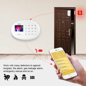 Image 2 - KERUI WIFI GSM W20 karta RFID inteligentny System alarmowy do domu 2.4 calowa klawiatura dotykowa z czujnik drzwi Anti pet wykrywacz ruchu