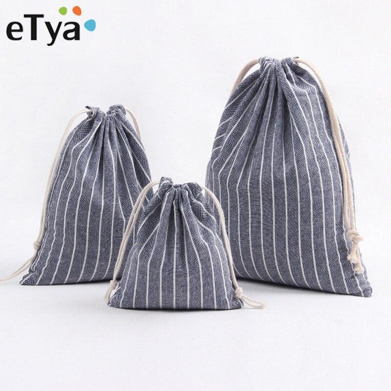 ETya Men Women Travel Clothe Shoes Storage Drawstring Bag Quality Cotton Drawstring Shopping Bag Packing Organizers Shopper Tote