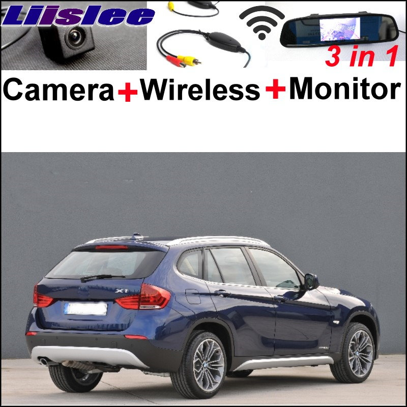 Liislee Special WiFi Camera + Wireless Receiver + Mirror Monitor Easy DIY Rear View Parking Backup System For BMW X1 E84 X3 E83 liislee special wifi camera wireless receiver mirror monitor parking system for porsche 996 997 991 carrera 911 turbo gt2 gt3