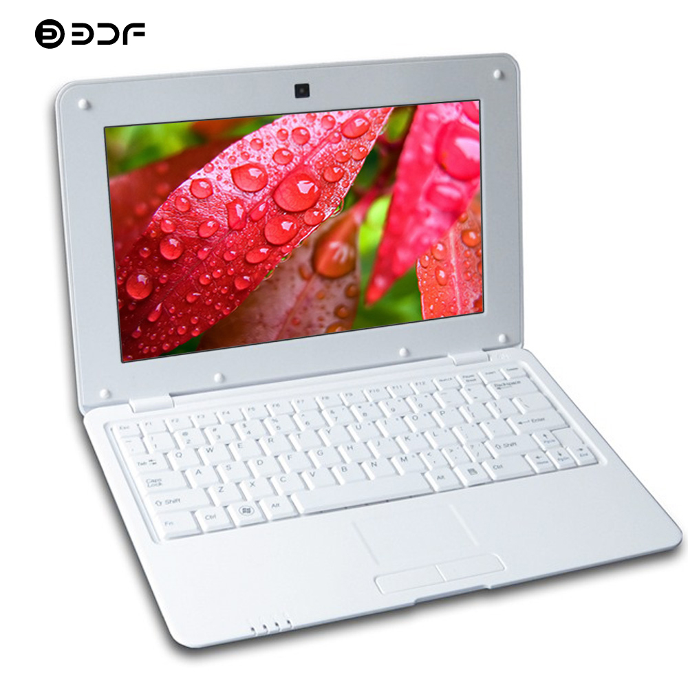 BDF 10.1 Inch Mini Laptop Quad Core Notebook Android Laptop 8GB Laptop Android 6.0 Quad Core WiFi Bluetooth Mini Netbook Laptop