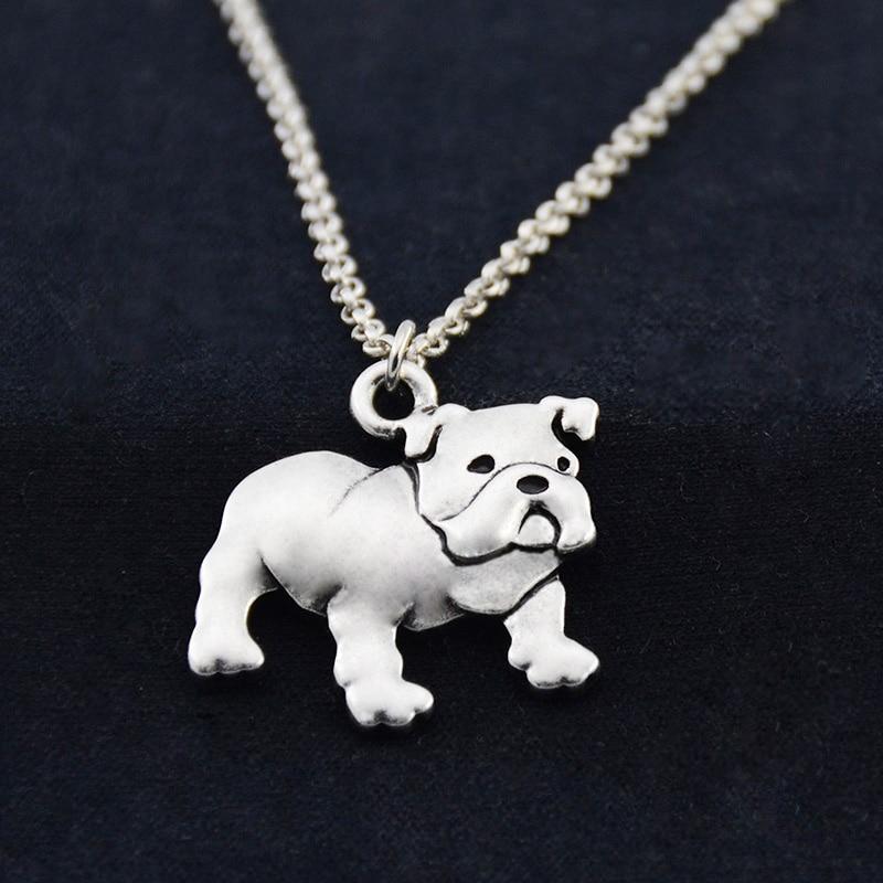 Fei Ye Paws Punk angleški buldog pes Obesek za ogrlice za ženske - Modni nakit - Fotografija 5