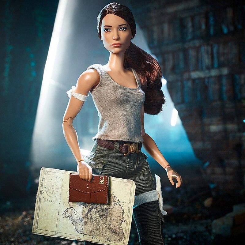 ตุ๊กตาบาร์บี้ต้นฉบับ Super Star Tomb Raider Lara คอลเลกชันชุดตุ๊กตาแฟชั่นสไตล์วันเกิดของขวัญตุ๊กตา Bonecas ของเล่นเด็กสำหรับสาว-ใน ตุ๊กตา จาก ของเล่นและงานอดิเรก บน   3