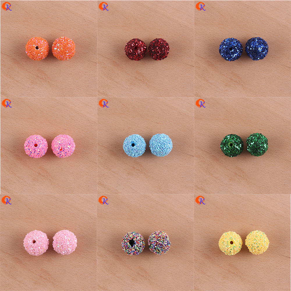 Image 5 - Cordial Design 12mm To 20mm Acrylic Bead Findings/Glitter On Round Beads/Hand Made/DIY/Chunky Beads/Earrings Jewelry Making-in Beads from Jewelry & Accessories