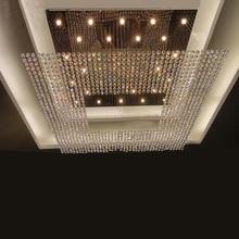 Nueva plaza cadena moderna grande araña de cristal de hotel lobby chandelier lighting envío gratis