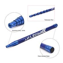 2.1M Professional Carbon Fiber Telescopic Handle Rod Stick Pole for Fishing Spear Brail Net Head Fishing Tackle Lixada