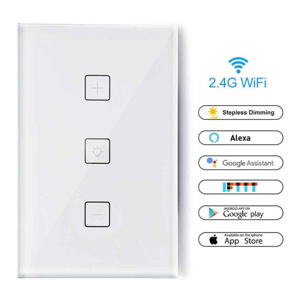 Timethinker Wifi Smart Switch Nirkabel LED Dimmer Saklar Lampu Dinding Interrupter Sentuh Kontrol Bekerja dengan Alexa Echo Google Home