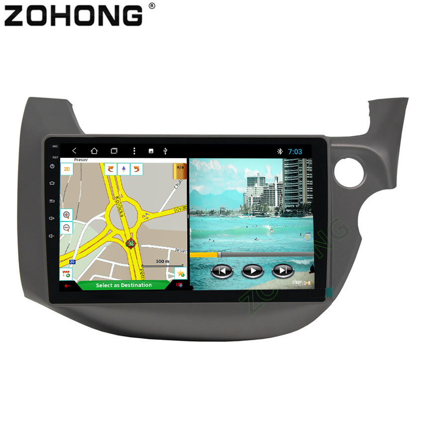 2 5D Android 8 1 Octa 8 Core Car DVD Player for Honda FIT JAZZ RHD