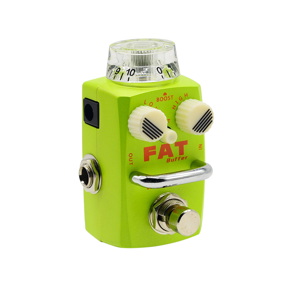 Hotone Fat Buffer Electric Guitar Effect Pedal Buffer Preamp True Bypass Footswitch Guitar Pedal Clean Boost SBF-1 mxr m133 micro amp gain boost pedal with level control led indicator and footswitch