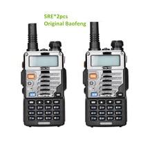 2 pçs baofeng uv-5re walkie talkie rádio em dois sentidos vhf rádio banda dupla fm vox cb rádio comunicador para uv-5r uv-5ra atualizar uv5re