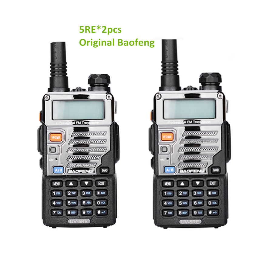 2 pcs Baofeng uv-5re Talkie Walkie à Deux Voies Radio Vhf Double Bande radio FM VOX cb Radio Communicateur pour uv-5r uv-5ra mise à niveau uv5re