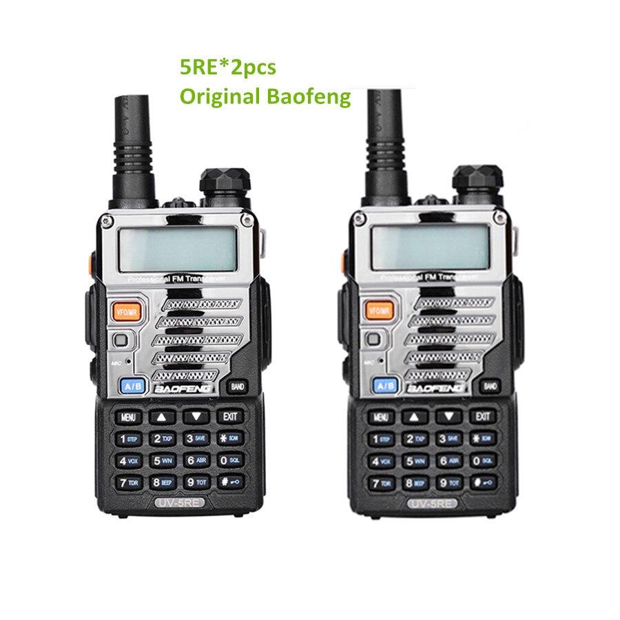2 stücke Baofeng uv-5re Walkie Talkie Two Way Radio Vhf Dual Band radio FM VOX cb Radio Kommunikator für uv-5r uv-5ra upgrade uv5re