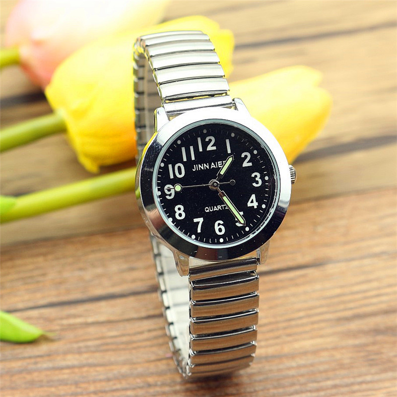 Old Men Watches New Famous Brand Relojes Flexible Elastic Strap Unisex Stainless Steel Fashion Analog Lovers Wristwatch Clock
