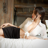 Sexy Lingerie Cosplay Set Secretary Uniform Sexy Costumes Underwear Hot Erotic Body Lady Sexy V Neck