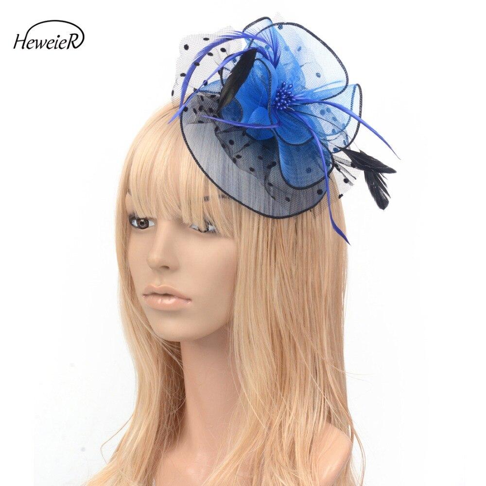 sombrero con lazo velo para boda o fiesta. Red de malla de plumas fascinante para el pelo