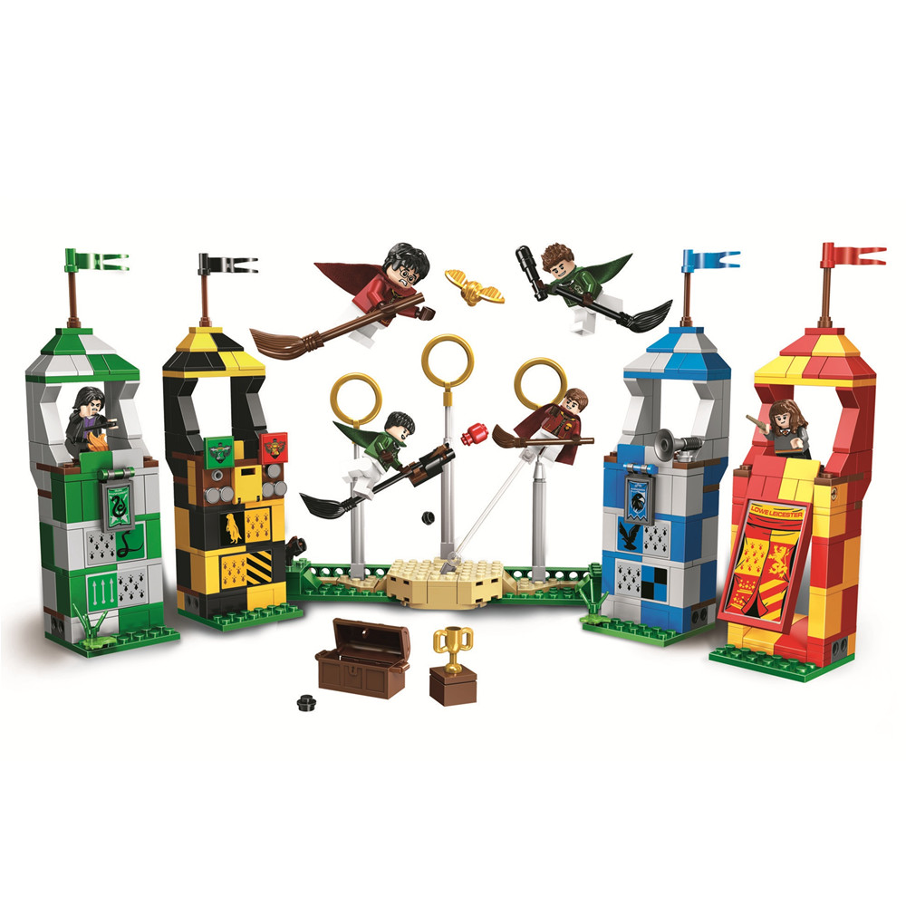 BELA Quidditch Match Harry Building Blocks Kit Bricks Sets Classic Movie Potter City Model Kids Toys Gift Compatible Legoe candino sportive c4524 4