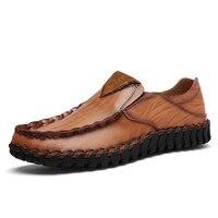 الرجال الانزلاق على المتسكعون الاخفاف القيادة الأحذية الراحة الموضة عارضة أحذية الرجال جلد طبيعي الجلود zapatos hombre