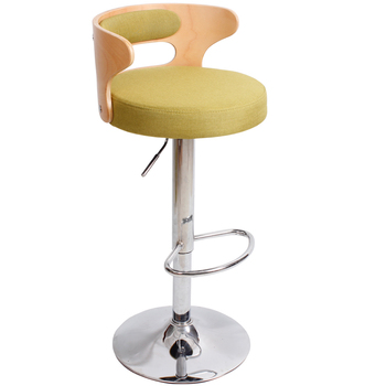 Simple Style Multifunction Bar Chair with Backrest and Footrest Lifted Rotated Front Desk High Stool Non-slip Commercial Chair portable multifunction tattoo chair cosmetology manicure lifted stool rotated barber chair with footrest office staff stool