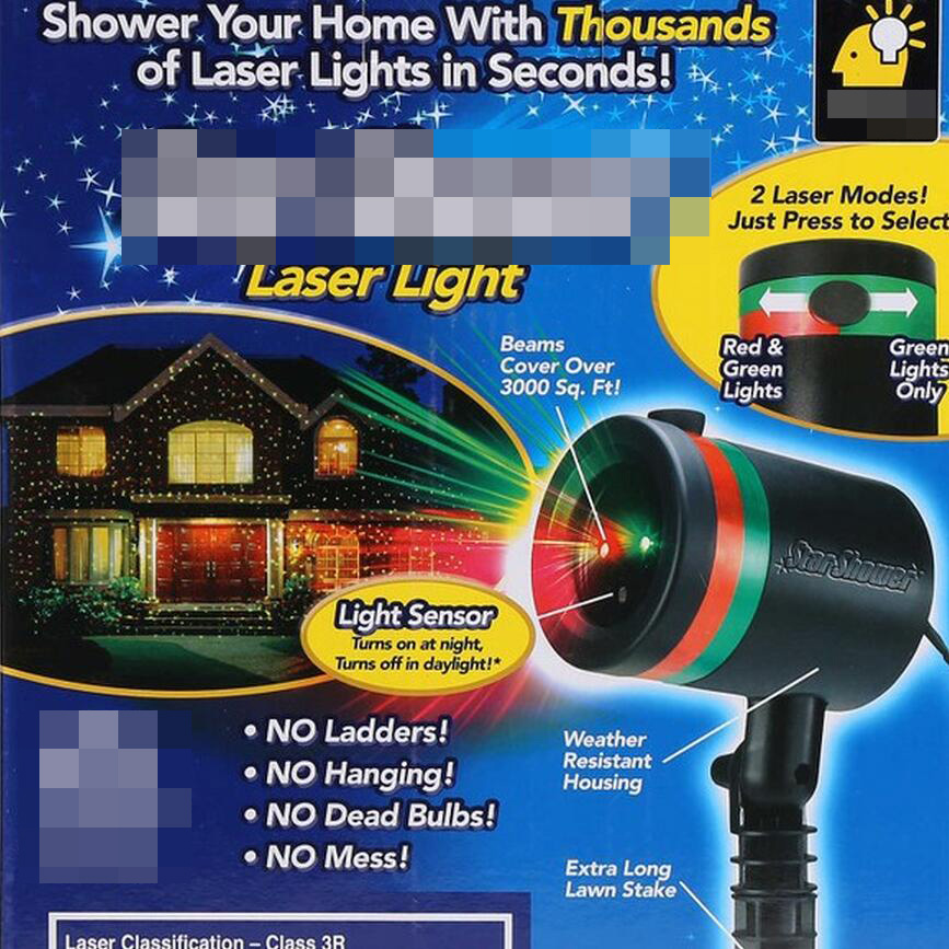 Laser showers outdoor laser light projector christmas for Lumiere de noel exterieur