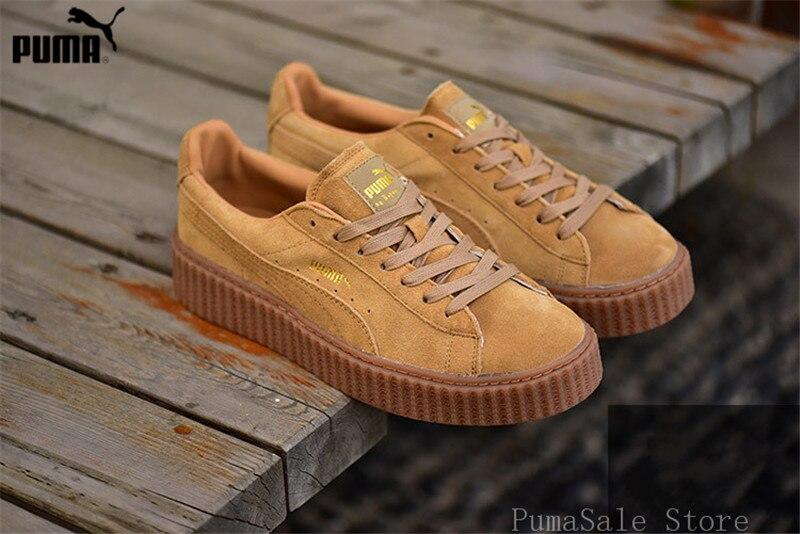 076eda6c76b Original Puma By Rihanna Khaki WMNS Creeper Men Shoes Thick bottom  Badminton Shoes Fenty Women Sneakers
