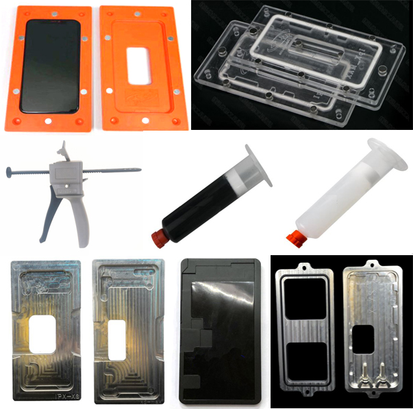 Beautiful 1pcs Aluminium Mould For Iphone X Xs Xr Max Laminator Mold Metal For Front Glass Location Cold Glue Holding Mold Mad