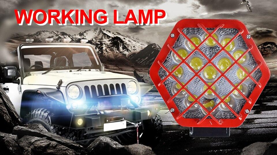 AcooSun 48W LED Bar Car working Light Automobile Car Light Off-road lights Fog Lamp DC12V 24V IP67 Truck Motorcycle Auto Lights (1)