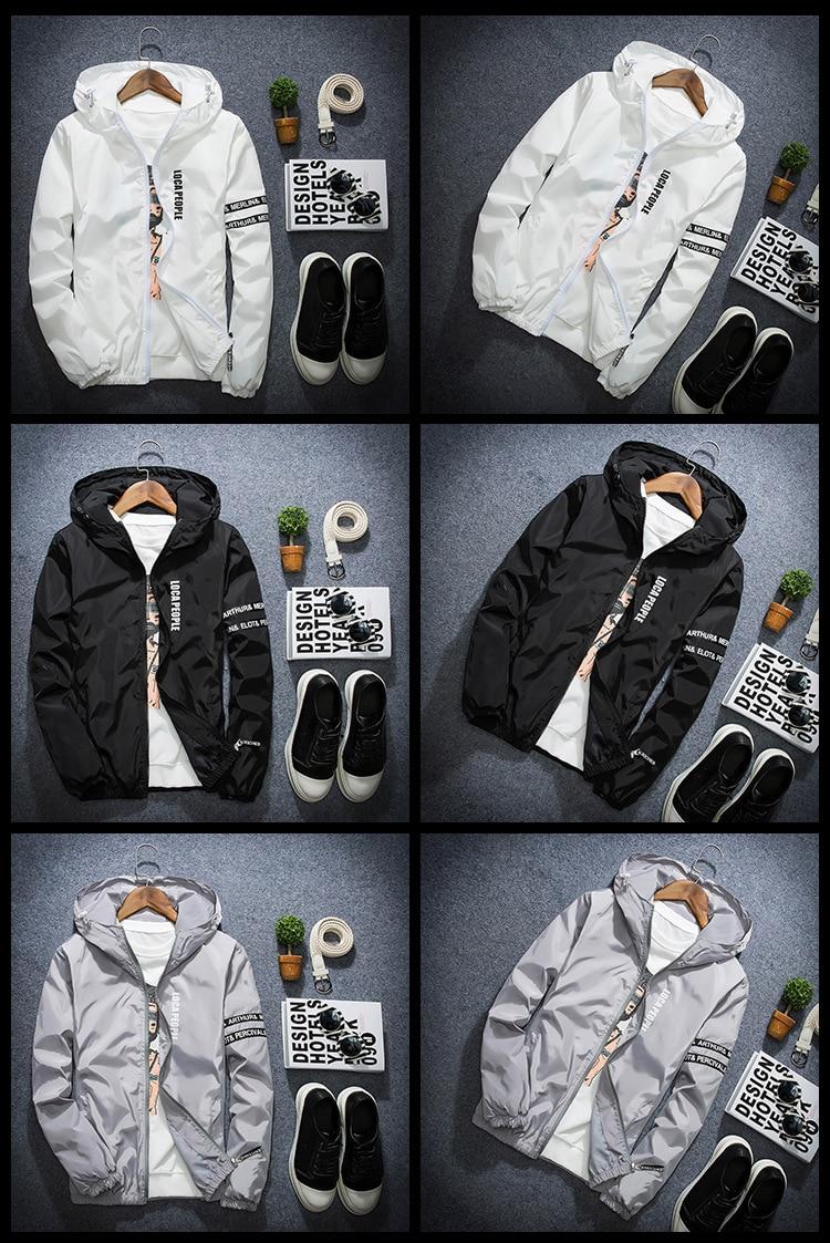 HTB183vGg5CYBuNkSnaVq6AMsVXaH AFS JEEP Spring Autumn Thin Windbreaker Jacket Men Plus Size M-4XL jaqueta masculina Slim Fit Young Men Hooded bomber jacket men