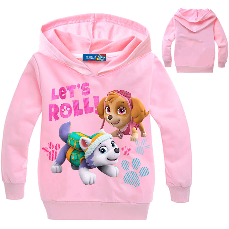 2017 New Boys Girls Hoodies Children's Cartoon Canine Patrol Dog Puppy Print Sweatshirts Fashion Kids Long Sleeve Costume 3-10Y