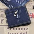 Леди Письмо Защелки Короткий Бумажник Сцепления Старинные Матовый Женщины Бумажник Мода Джинсовые Небольшой Женский Кошелек короткие Монета Держателя Карты